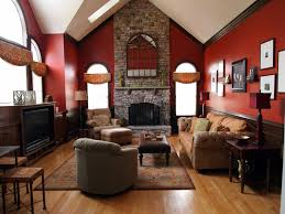 archaiccomely country living room furniture come with brick fireplace and single sofa gray color plus brown carpet along with wooden floor as well as red brick living room furniture