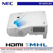 <b>NEC</b> NP-<b>UM351WG</b> ULTRA SHORT PROJECTOR - Projector ...