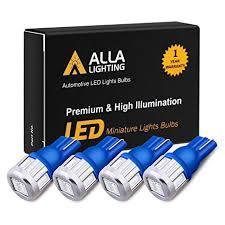 Alla Lighting <b>4x</b> 194 LED Blue Bulbs Super Bright Samsung <b>5630</b> ...