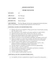 retail store manager job description for resume perfect resume  manager job description job description retail