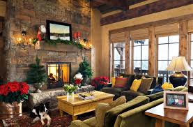 large living space christmas decoration featuring plain pine tree on wrought copper pot and awesome large living room