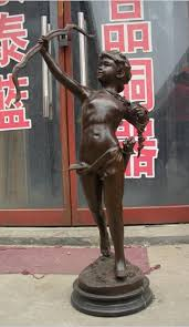 SUIRONG 413+++Huge China <b>bronze</b> Marble <b>statue</b> Greek Cupid ...