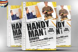 handyman flyer template flyer templates on creative market