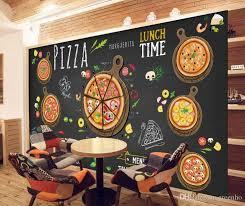 <b>Custom 3D</b> wallpaper for <b>walls 3D</b> Pizza Shop <b>Wall</b> Mural Food ...