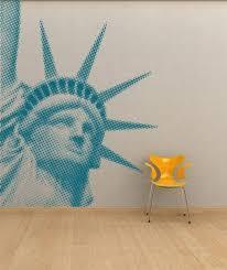 liberty bedroom wall mural: halftone statue of liberty vinyl wall decal room mural