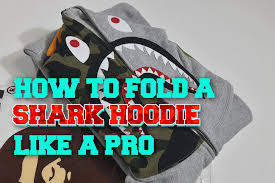 How to Fold a <b>Shark Hoodie</b> (or any zip-up <b>hoodie</b>) Like a Pro ...