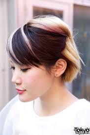 Hair Style Highlights short japanese hairstyle with pink highlights tokyo fashion news 1980 by wearticles.com