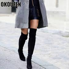 2017 <b>women</b> boots <b>European</b> fashion stretch <b>thigh high boots</b> height ...