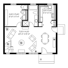 House Plan at FamilyHomePlans comContemporary Saltbox House Plan Level One