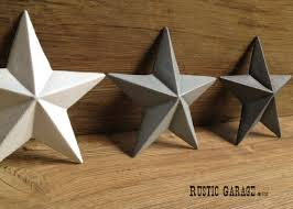 metal star wall decor: set of  cast iron texas stars handpainted metal by rusticgarage