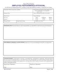 employee job performance evaluation forms sample resumes employee job performance evaluation forms employee evaluation forms and performance appraisal form evaluation form template and