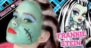 frankie stein monster high doll costume makeup tutorial for