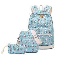 <b>3 Pcs</b>/<b>set</b> Cat Prints <b>School Backpack</b> - FreakyPet
