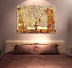 wieco art tree of life giclee canvas prints gustav klimt artwork oil paintings reproduction pictures to photo printed on canvas wall art for home and artwork for office walls