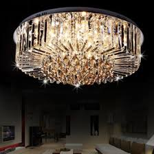 wholesale cheap shipping led crystal lamp modern minimalist living room ceiling lamp round dining room lighting fixtures c122 cheap modern lighting fixtures