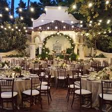 amazing outdoor evening wedding reception at rancho las lomas with overhead bistro lighting instagram photo amazing outdoor lighting