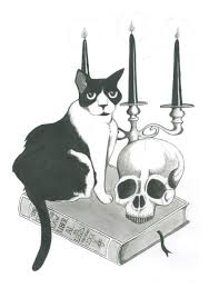 <b>Gothic Cat</b> - signed print - Jam Art Prints - IRISH ART AND DESIGN ...