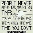 ungrateful person