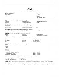 Child Actor Resume Sample  child acting resume format   job and       happytom co