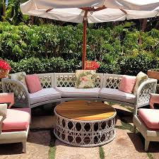 images hollywood regency pinterest furniture: beverly hills hotel patio decor pink pillow rattan furniture hollywood regency decor