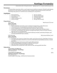 retail  s associate resume examples first   s associate    sales associate resume