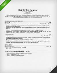 hair stylist resume sample  amp  writing guide   rghair stylist resume