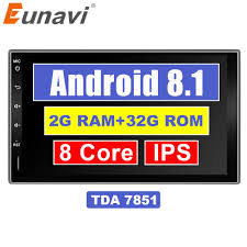 "<b>Eunavi 7</b>"" in dash <b>2 Din</b> 1024*600 HD Android 7.1 8.1 Car Tap PC ..."