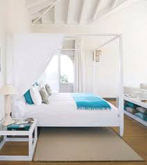 white turquoise bedroom canopy bed beach house bedroom beach house style furniture