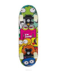 "<b>Скейтборд Larsen</b> ""<b>Kids 1</b>"", 51 х 15 см, цвет: зеленый, желтый ..."