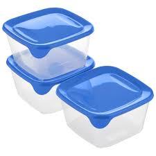 """Набор <b>контейнеров</b> для СВЧ <b>Curver</b> """"<b>Fresh</b> & Go"""", цвет: синий ..."""