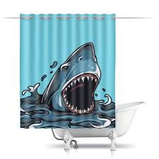 "Шторы в ванную ""<b>Акула</b>"" #2499804 от Ирина - <b>Printio</b>"