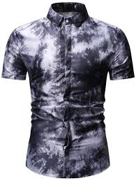<b>Men's</b> Shirt Fashion Casual Turn Down Collar Short Sleeve Print ...