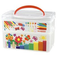 «<b>Коробка универсальная</b> Econova с ручкой и декором Art <b>box</b> ...