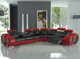 enchanting home furniture designs with dark red leather sofa excellent decorating ideas using rounded grey black and red furniture
