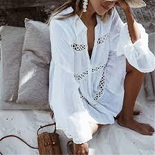 <b>Bikini Cover Up</b> Lace Hollow Crochet Swimsuit Beach Dress ...