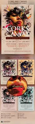 corks canvas art event flyer template by godserv graphicriver corks canvas art event flyer template events flyers