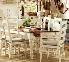 pottery barn style dining table: keaton extending dining table in french white from pottery barn love this large farmhouse