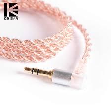 <b>KBEAR</b> 4 core Copper cable with <b>metal</b> interface 2 pin/QDC/MMCX ...