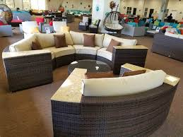 pvc outdoor patio furniture model ope 1004 brown wicker amp khaki cushions brown piping apothecary style furniture patio