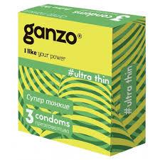 <b>Презервативы Ganzo</b>, <b>ultra</b> thin сверхтонкие 3 шт.
