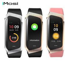 Imosi Smart Band <b>E18 Color</b> Fitness Tracker Blood Pressure Watch ...