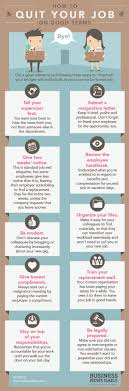 infographic how to quit your job on good terms credit grant reinero business news daily
