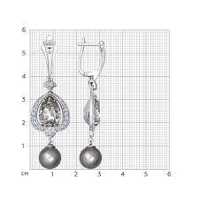 <b>Серьги длинные</b> из серебра с миксом камней <b>SOKOLOV</b> – купить ...