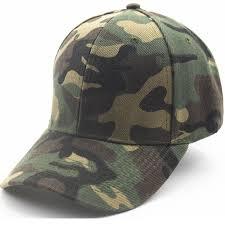 Unisex Camouflage Printing Snapback Cap <b>Curved Brim Dad Hat</b> ...