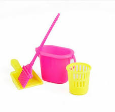 nk 4pcsset princess doll accessories furniture funny toys dolls cleaning kit for barbie dolls accessories furniture funny