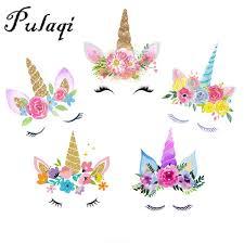 Pulaqi Flowers <b>Unicorn Iron On</b> Transfers For Clothes Cartoon ...