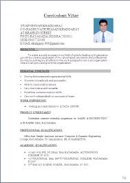 best resume format for freshers template freshers resume formats