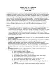 reading response essay  atslmyfreeipme reading response essays save water india essaya personal response is an essay in which you describe