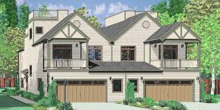 Waterfront House Plans  Lakefront  Coastal Lake Front HomesD  Mediterranean duplex house plans  beach duplex house plans  vacation house plans