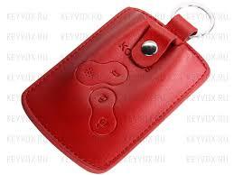 <b>Чехол</b> для <b>ключа</b> зажигания <b>Renault Koleos</b> красного цвета.